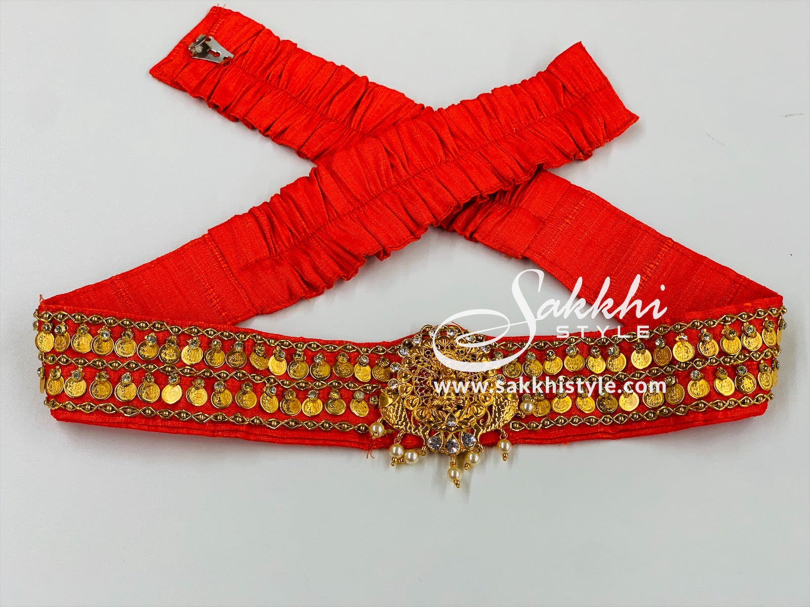 Orange Lakshmi Kasu Waist Belt