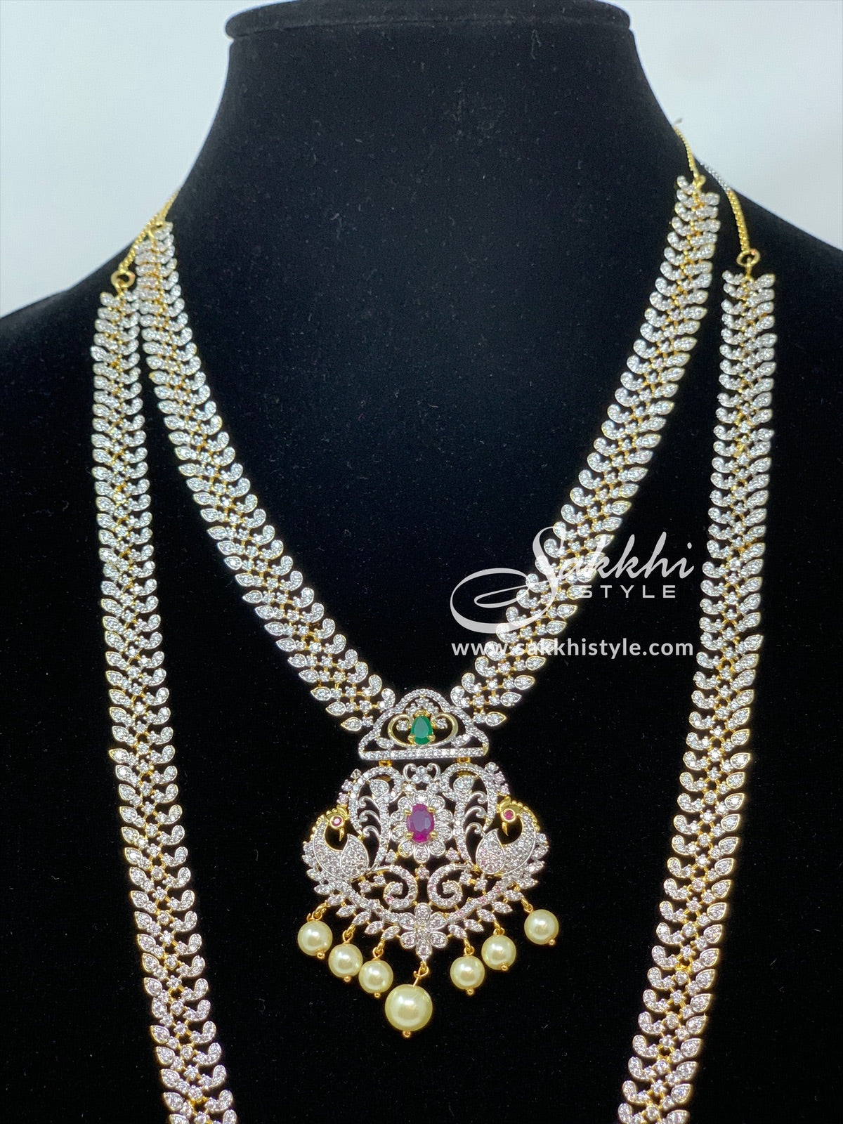 CZ Stones Bridal Necklace Set