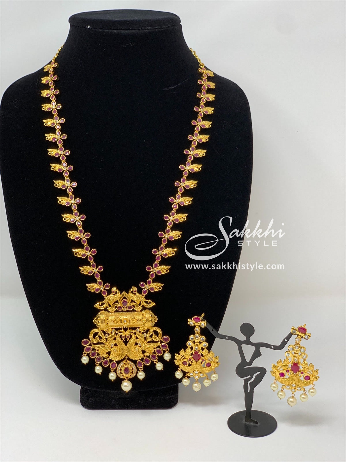Peacock Motifs Necklace Set