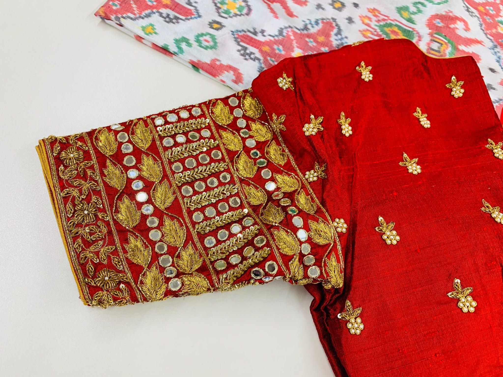 White and Maroon Ikkat Pochampally Saree