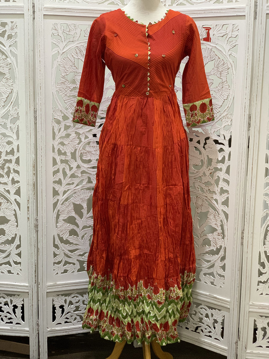 Red and Orange Kurti