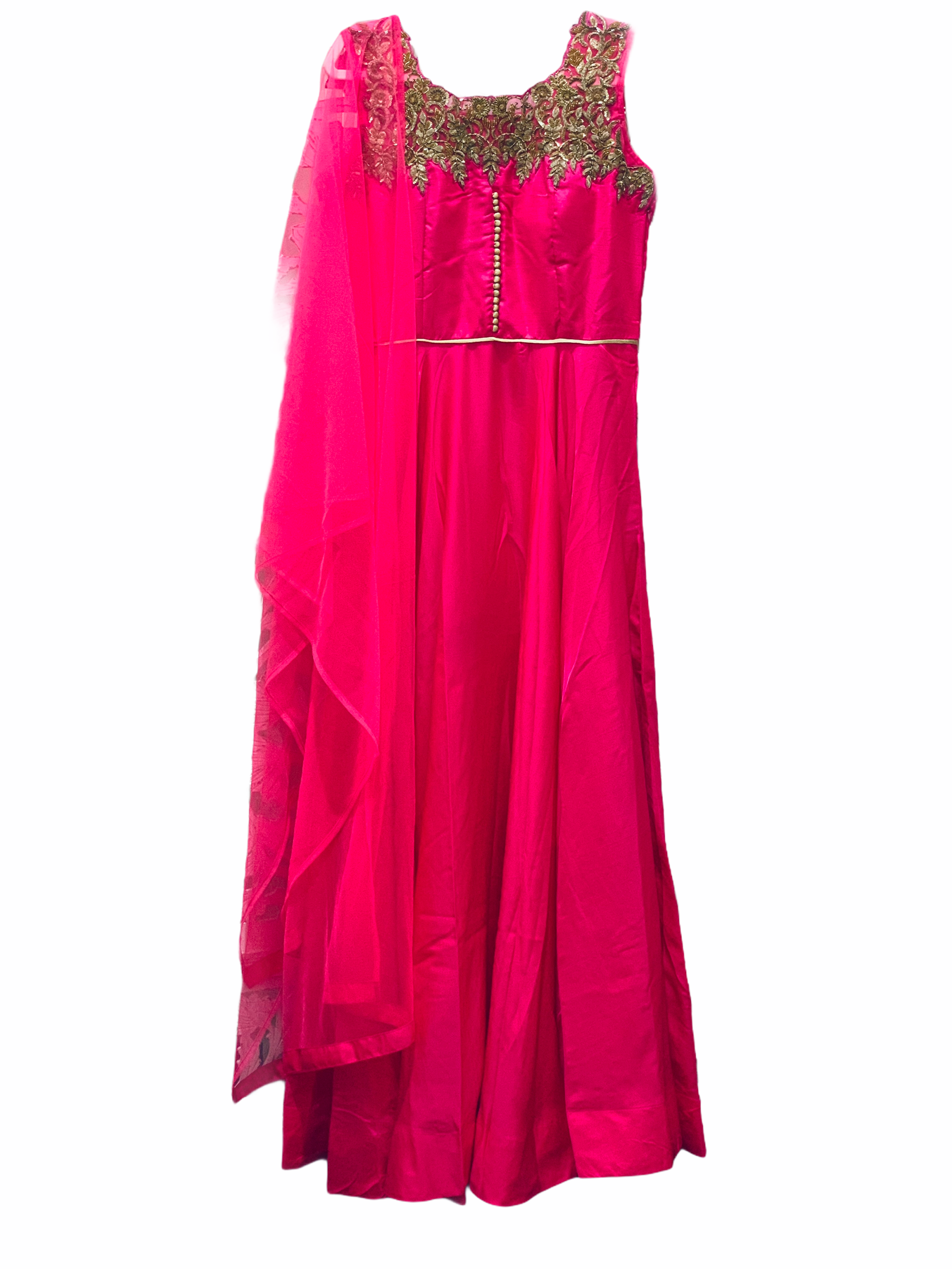 Pink and Gold Anarkali Gown - Sakkhi Style