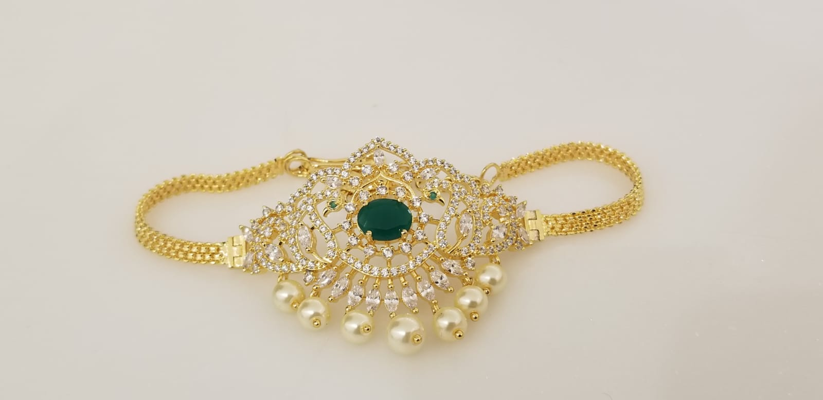 CZ Stones and Semi Emerald Choker