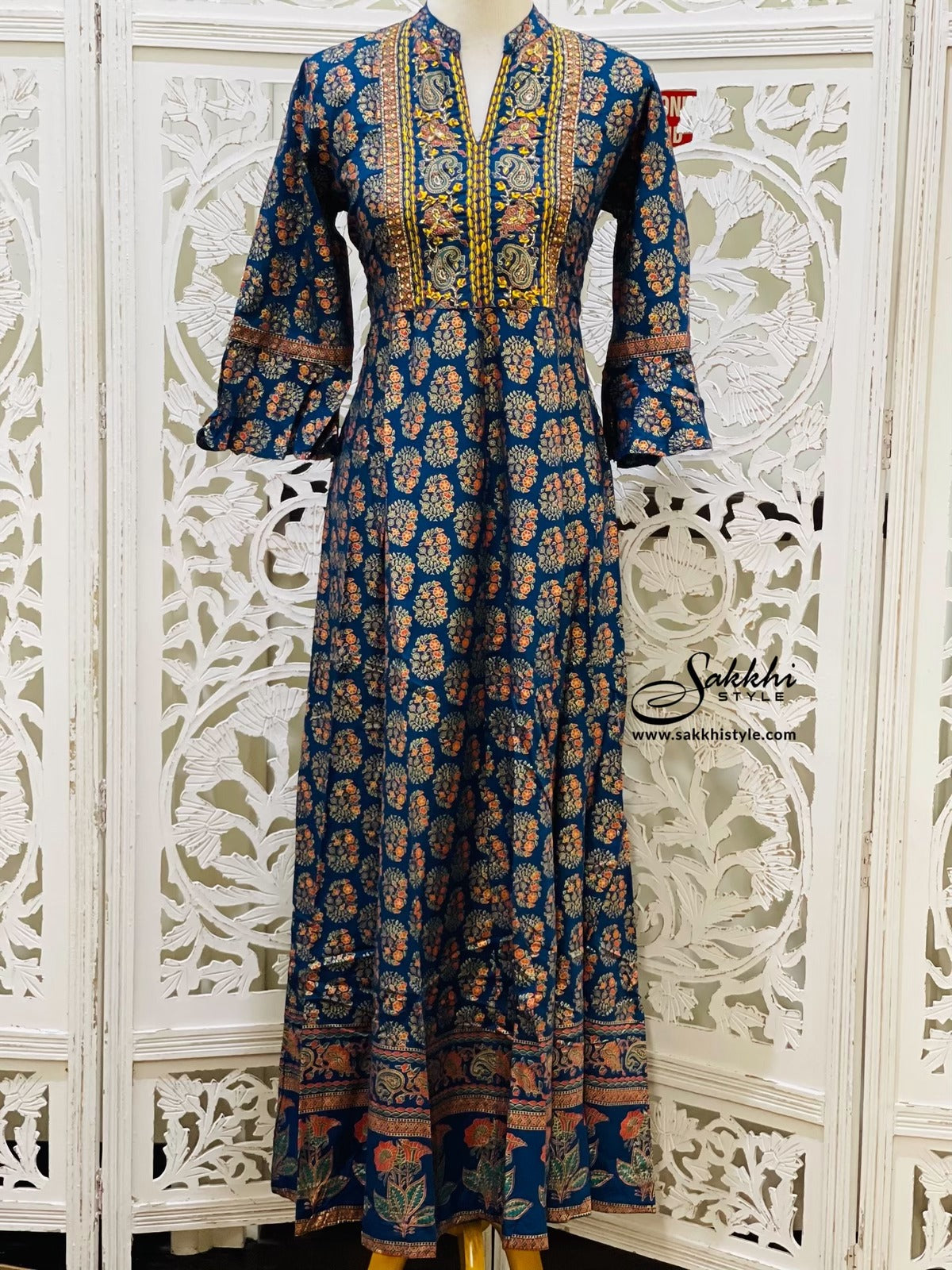 Navy Blue Anarkali Gown