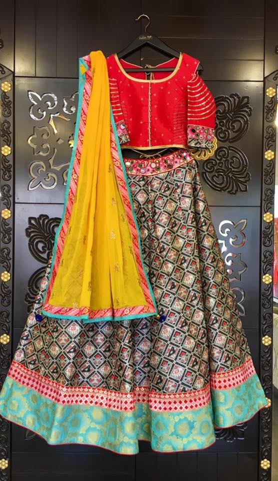 Red and Black Lehenga Choli - Sakkhi Style