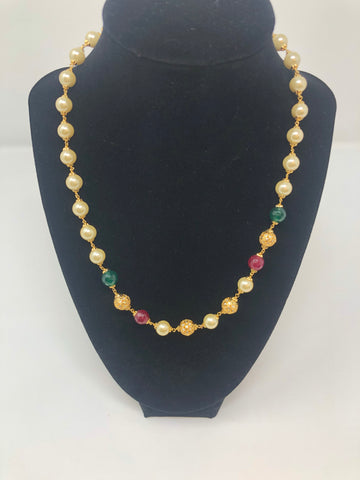 Pearls and Multi Colored Beads Necklace