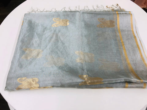 Silver Tissue Silk Saree