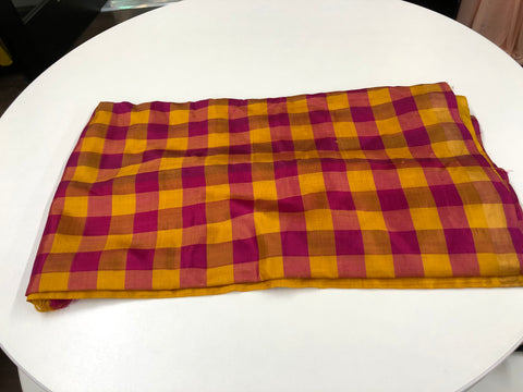 Pink and Yellow Uppada Silk Saree