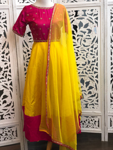 Pink and Yellow Gown