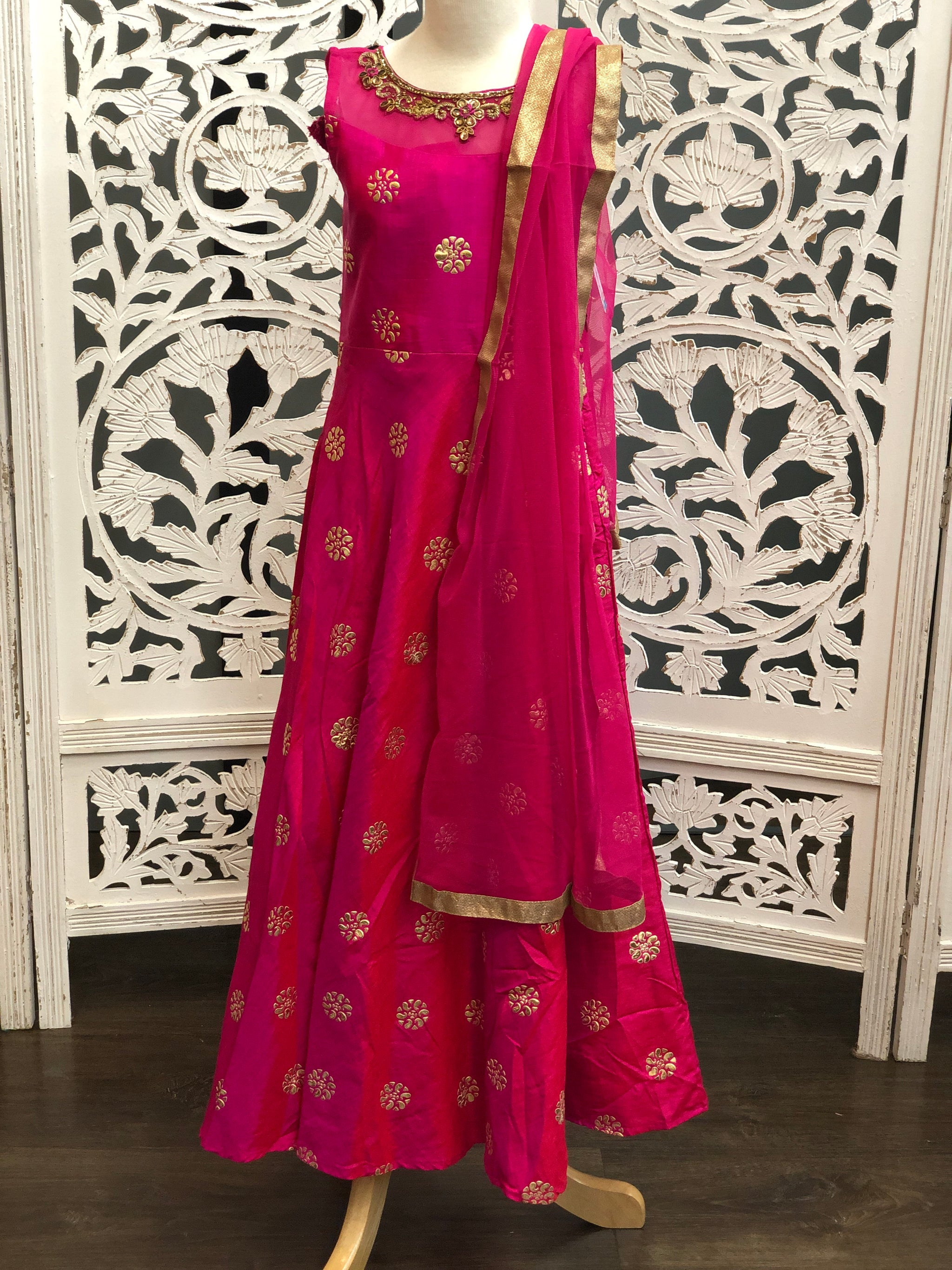 Pink and Gold Gown - Sakkhi Style