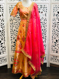 Peach and Pink Lehenga Choli