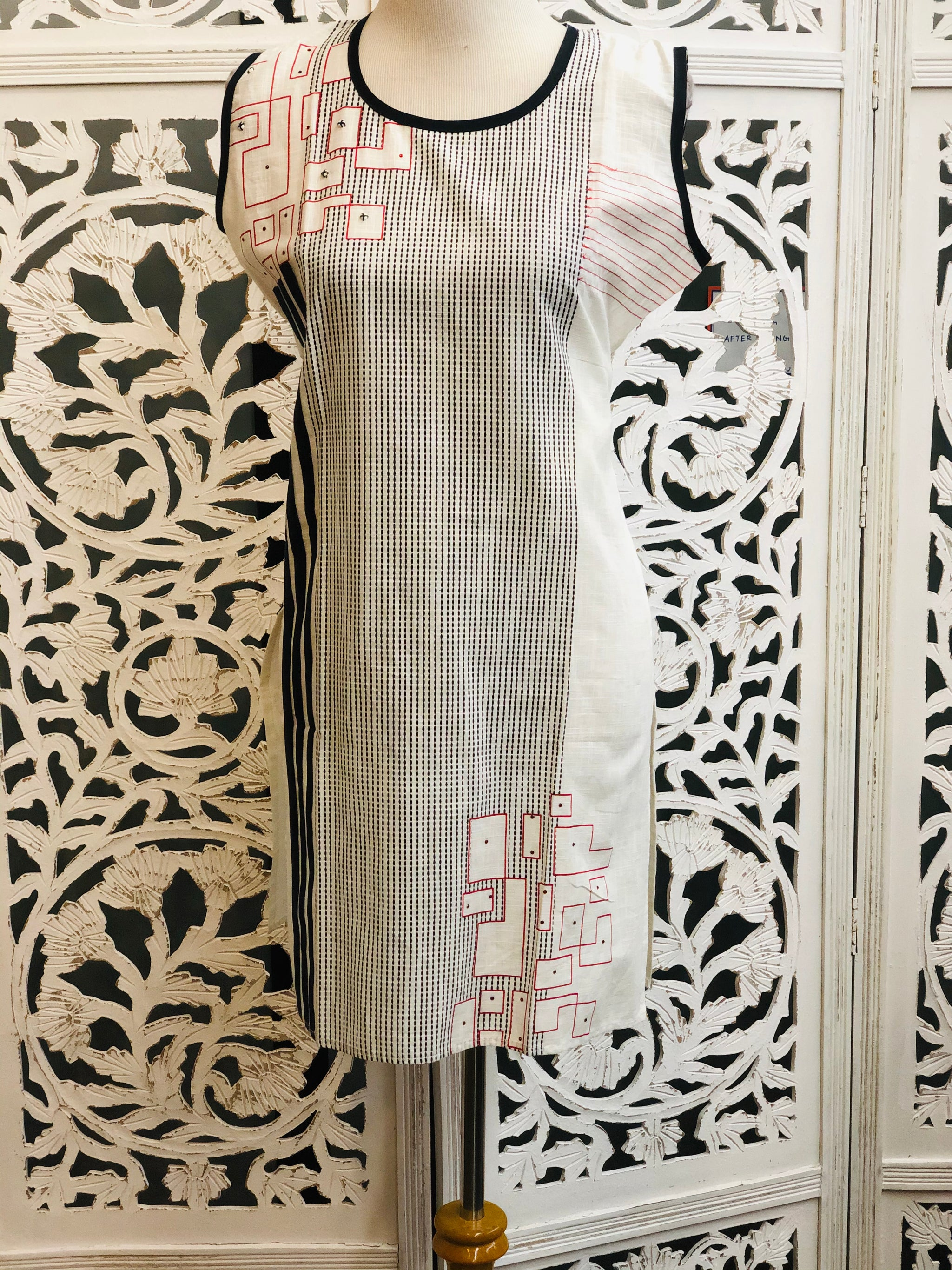 White and Black Kurti