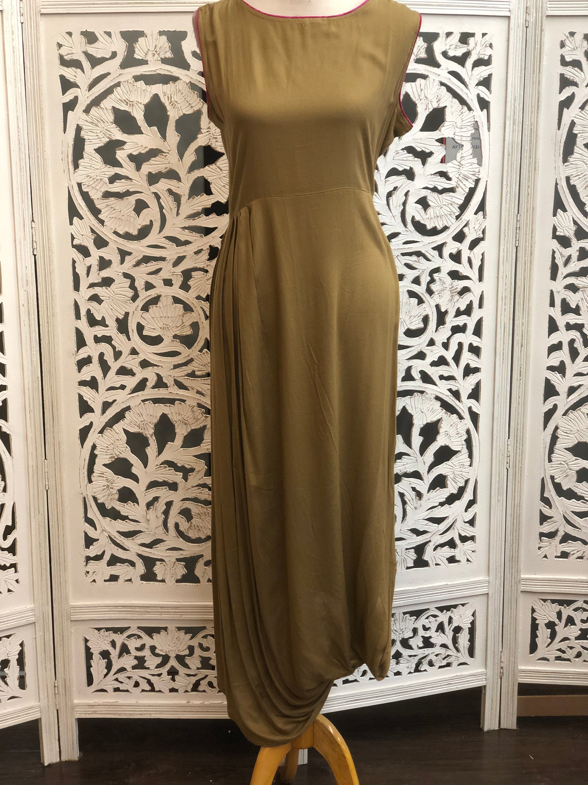Brown Sleeveless Kurti