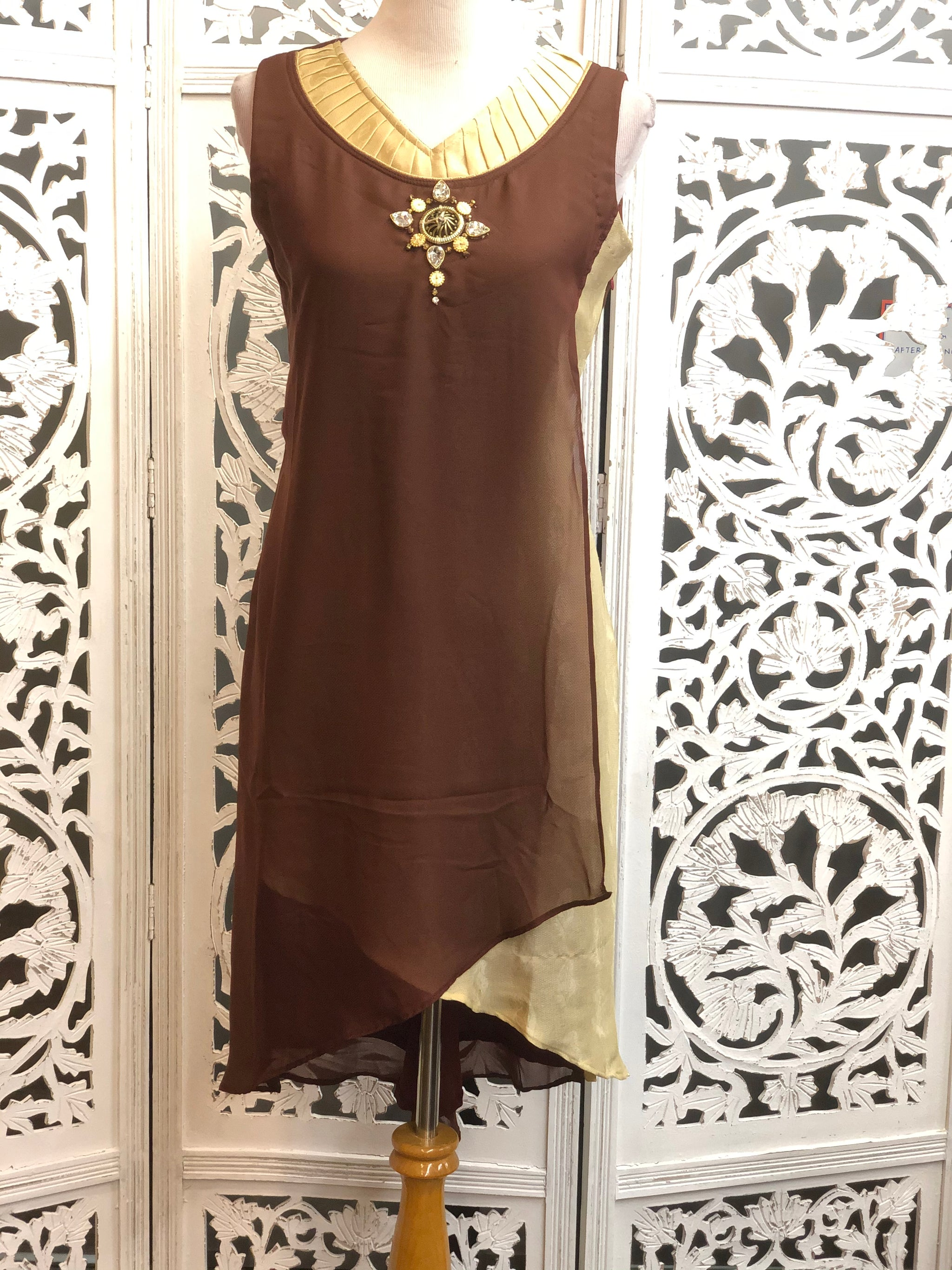 Brown and Gold Kurti
