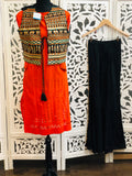 Orange and Black Kurti