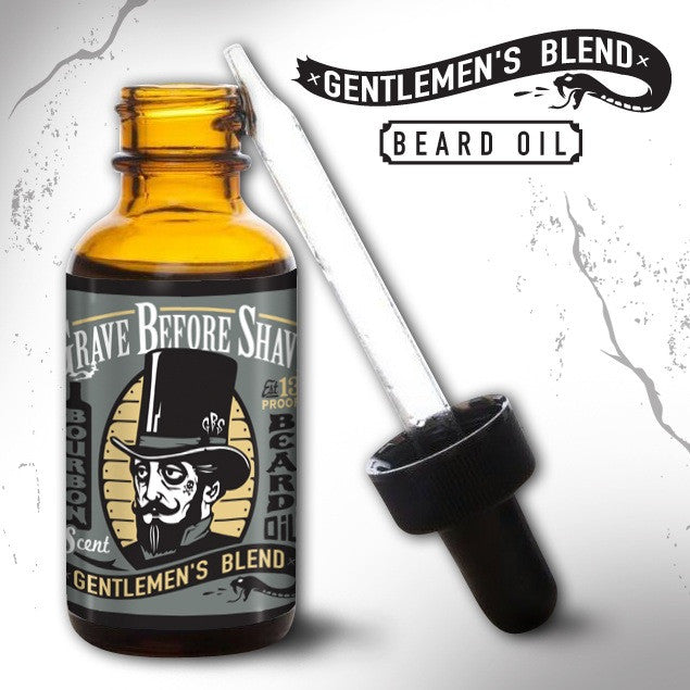 GRAVE BEFORE SHAVE Gentlemen's Blend Beard Oil (Bourbon Scent)