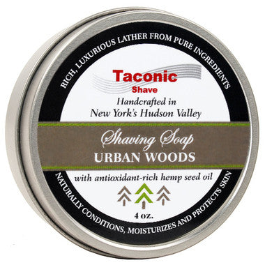 TACONIC URBAN WOODS SHAVING SOAP WITH HEMP SEED OIL