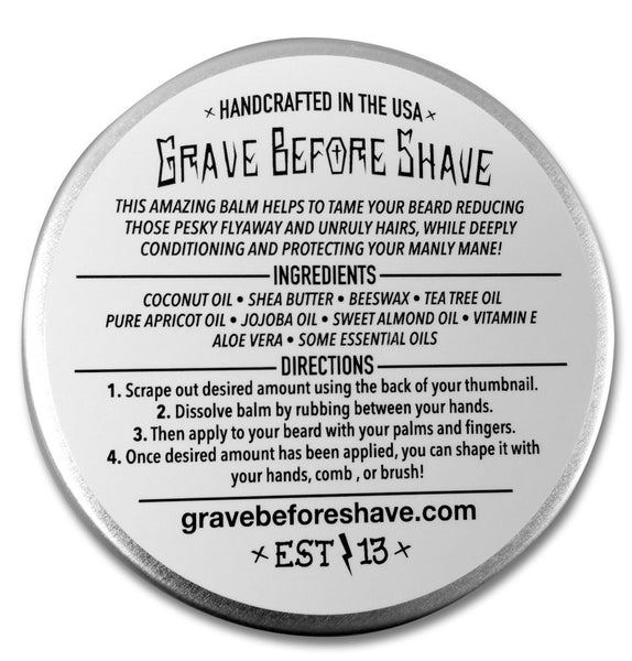 GRAVE BEFORE SHAVE PINE SCENT BEARD BALM