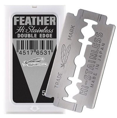 FEATHER HI-STAINLESS- 5 COUNT