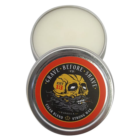 FISTICUFFS STRONG HOLD CIGAR BLEND MUSTACHE WAX 1 OZ. TIN