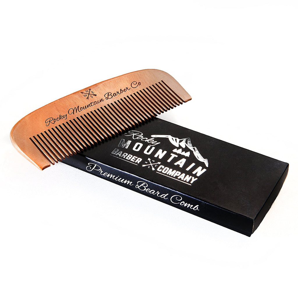 HARDWOOD HAIR COMB FOR HEAD, BEARD, MOUSTACHE HAIR -