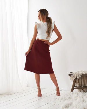 JAYLA SKIRT - TERRACOTTA