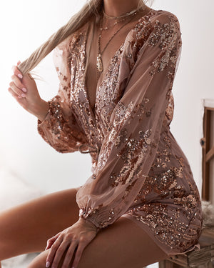 ZOLA SEQUIN PLAYSUIT