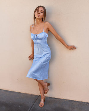 TAMIKA DRESS - BABY BLUE