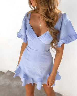 GO AWAY RONA DRESS - BLUE