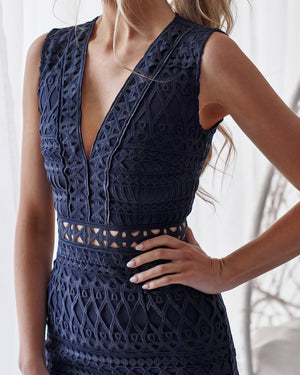 HVAR DRESS - NAVY