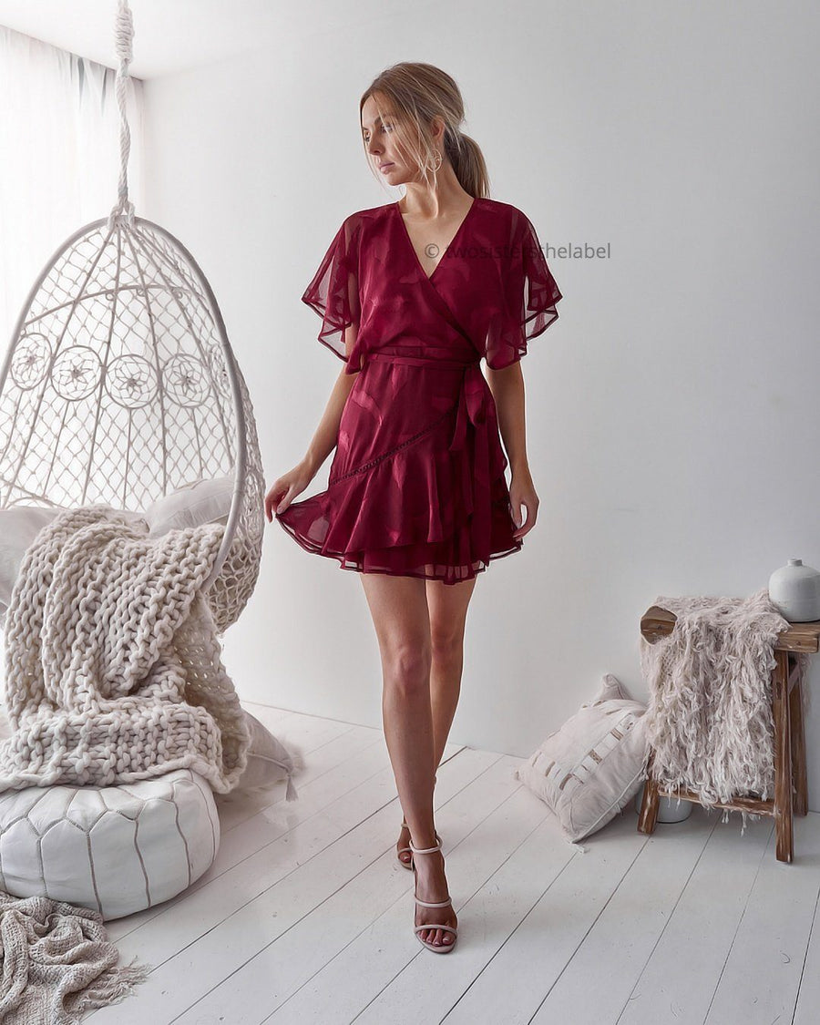 KIERA DRESS - RED