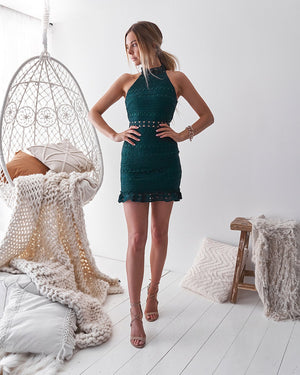 RIVERS MINI DRESS - EMERALD