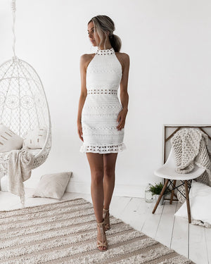 RIVERS MINI DRESS - WHITE