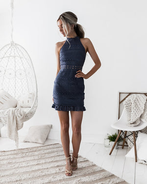 RIVERS MINI DRESS - STEEL BLUE
