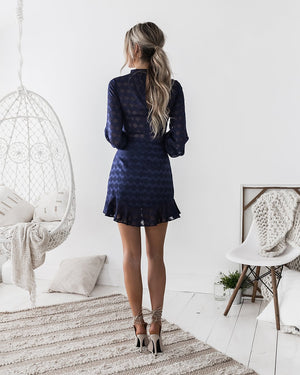 KASSIE DRESS - NAVY