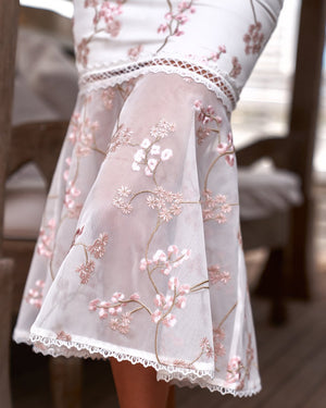 CIARA DRESS - PINK EMBROIDERY