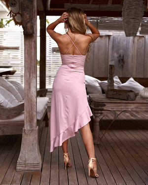 MORGAN DRESS - BLUSH