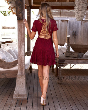 LAURA DRESS - RED
