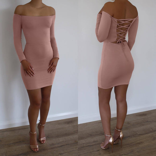 STACEY DRESS - NUDE