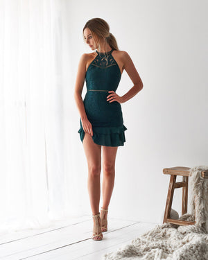 MIKA DRESS - EMERALD GREEN