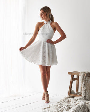 SPENCE DRESS - WHITE