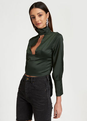 DANCE AND CHANT TOP - KHAKI