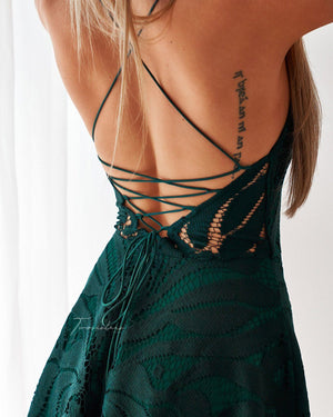 LAURIE DRESS - EMERALD GREEN