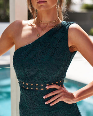 TAMARA DRESS - EMERALD GREEN