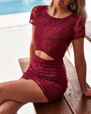 TWO SISTERS THE LABEL: SHAY LACE DRESS - BERRY