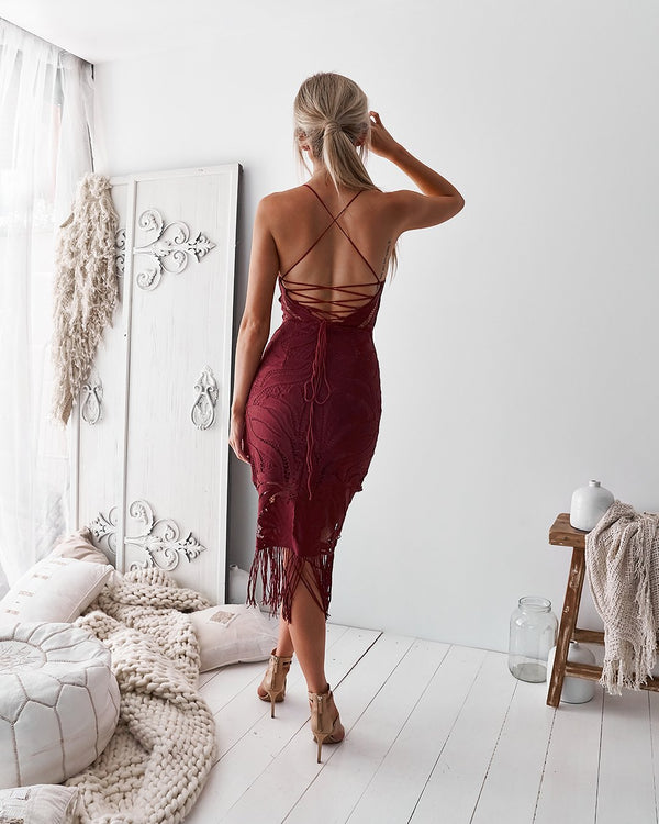 KHALEESI DRESS - FADED ROSE