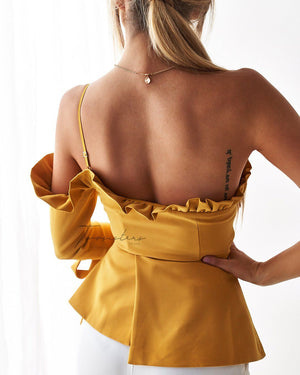 AINSLEY TOP - MUSTARD