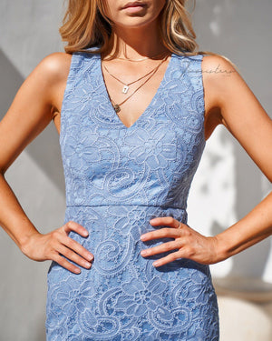 BRIDGET DRESS - POWDER BLUE