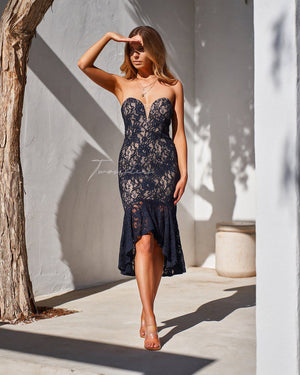 AMYLIA DRESS - NAVY