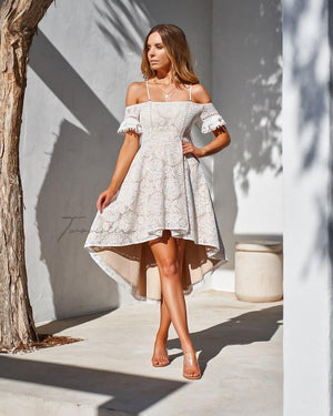 MEGAN DRESS - WHITE
